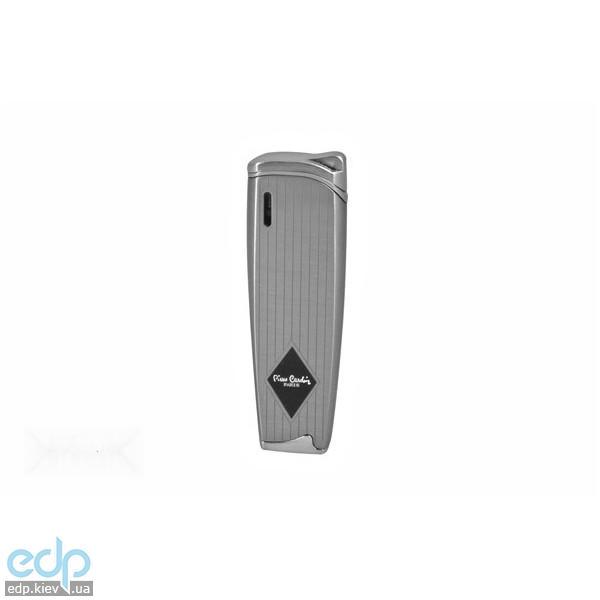 Pierre Cardin - Зажигалка газовая пьезо, серебро в полоску (арт. MFH-163-4)