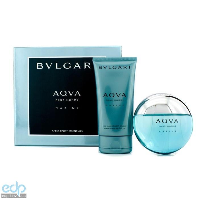 Bvlgari Aqva Pour Homme Marine -  Набор (туалетная вода 100 + шампунь 150)