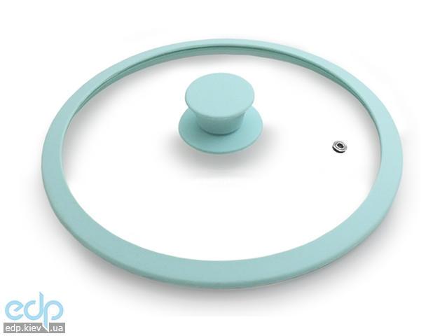 Fissman - Крышка стекляная с силиконовым ободком EDEN  диаметр 26 см (GL-9977.26) - Аквамарин