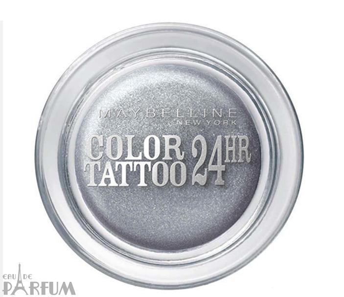 Maybelline - Тени для век кремово-гелевые 1-цветные Color Tattoo 24h №50 Silver - 9 ml