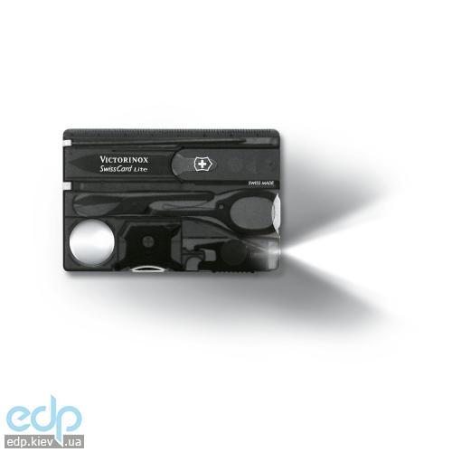 Набор инструментов Victorinox Swisscard Lite 82Х54Х4мм - 13 функций черный прозрачный (0.7333.Т3)