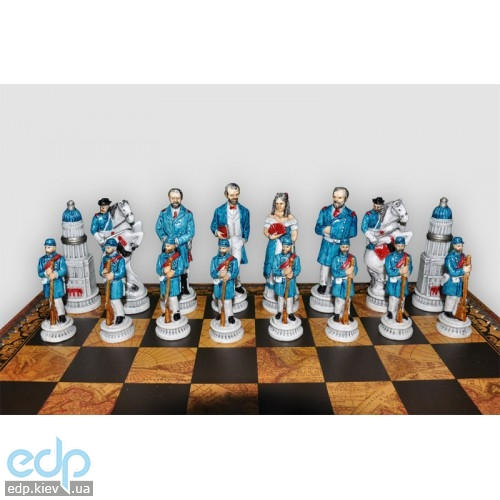Nigri Scacchi - Шахматные фигуры Gettysburg nord-sud (medium size) - Битва при Геттисберге - Фигуры 8-10 см (SP89)