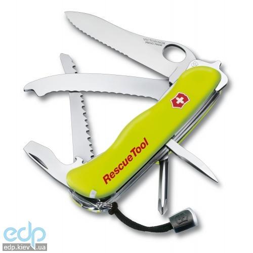 Складной нож Victorinox - Rescue Tool  - 111 мм, 16 функций желтый (0.8623.MWN)