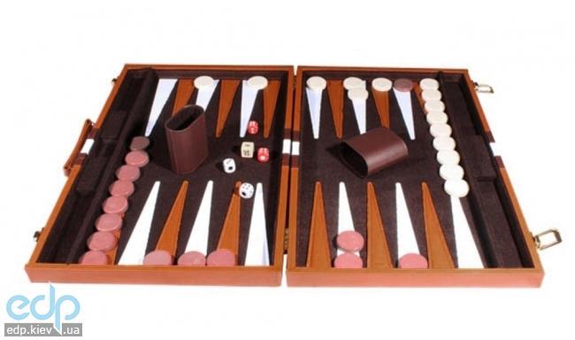 Настольная игра - Нарды Duke в кожанном кейсе 45 х 45 см (арт. 240400)