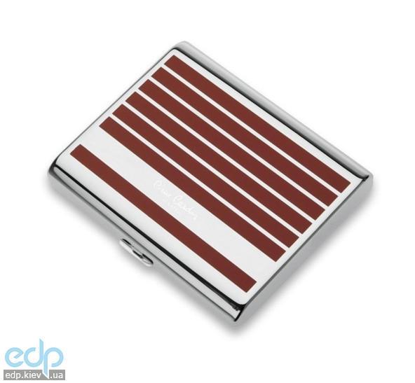 Pierre Cardin - Портсигар на 20 сигарет красная линия 9 см х 8 см х 1.8 см (арт. P-520-8)