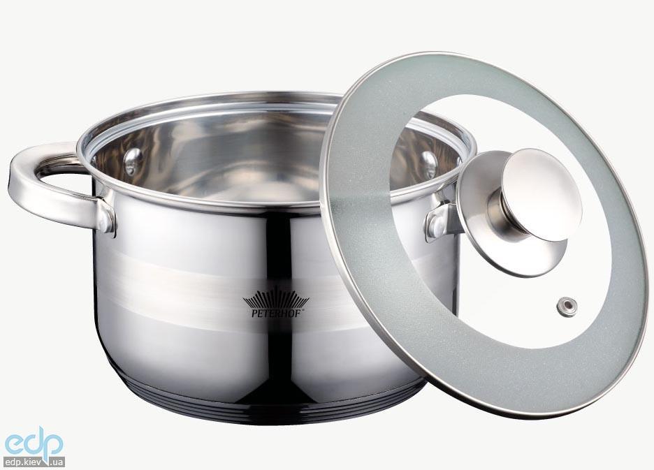 Peterhof - Кастрюля с крышкой объем 2.1 л диаметр 16 см нержавеющая сталь (арт. PH15734-16)
