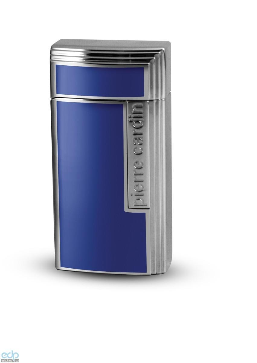 Pierre Cardin - Зажигалка газовая пьезо для сигар хром синяя (арт. MF-210-05)