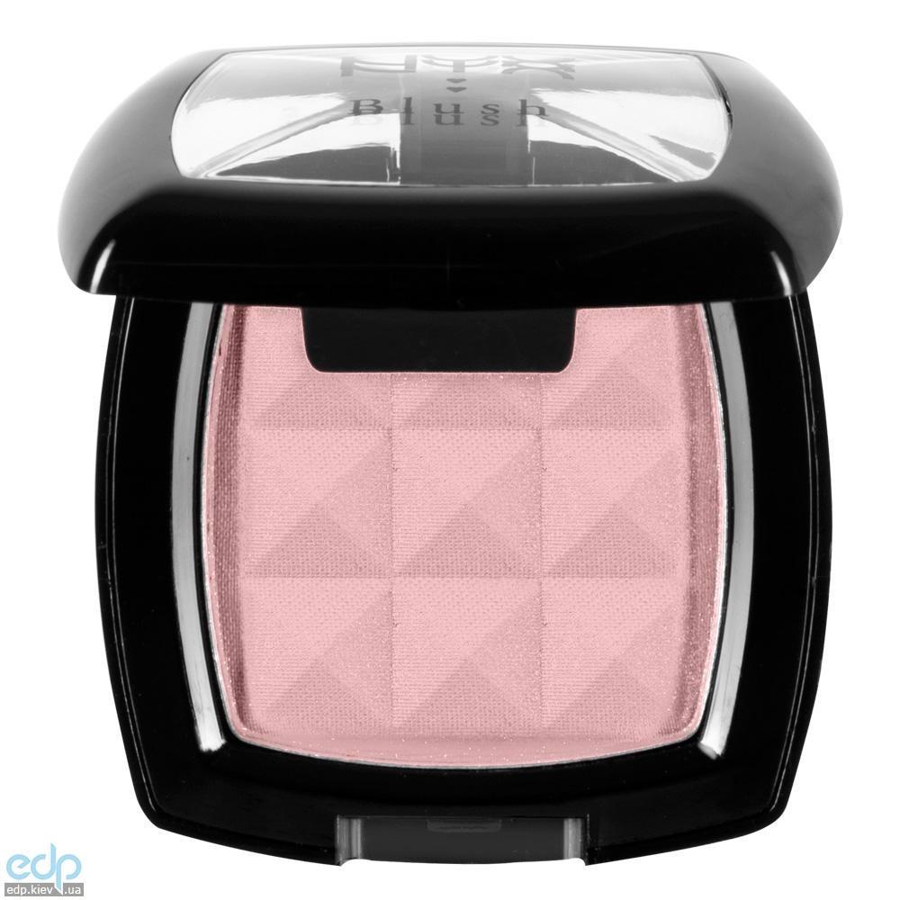 NYX - Компактные румяна Nyx Powder Blush матовый мягкий розовый Angel PB03 - 4 g