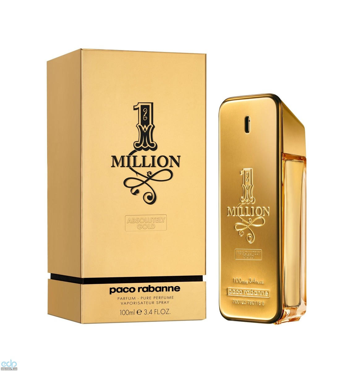 Paco Rabanne 1 Million Absolutely Gold - парфюмированная вода - 100 ml