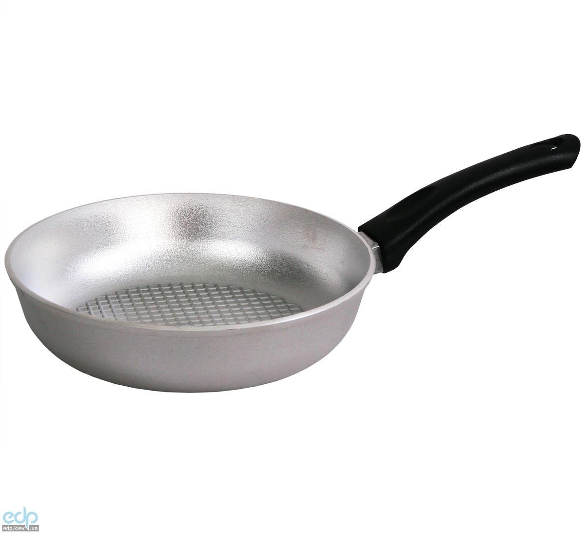 Биол - Сковорода алюминиевая с рифленым дном без крышки диаметр 20 см (С201)