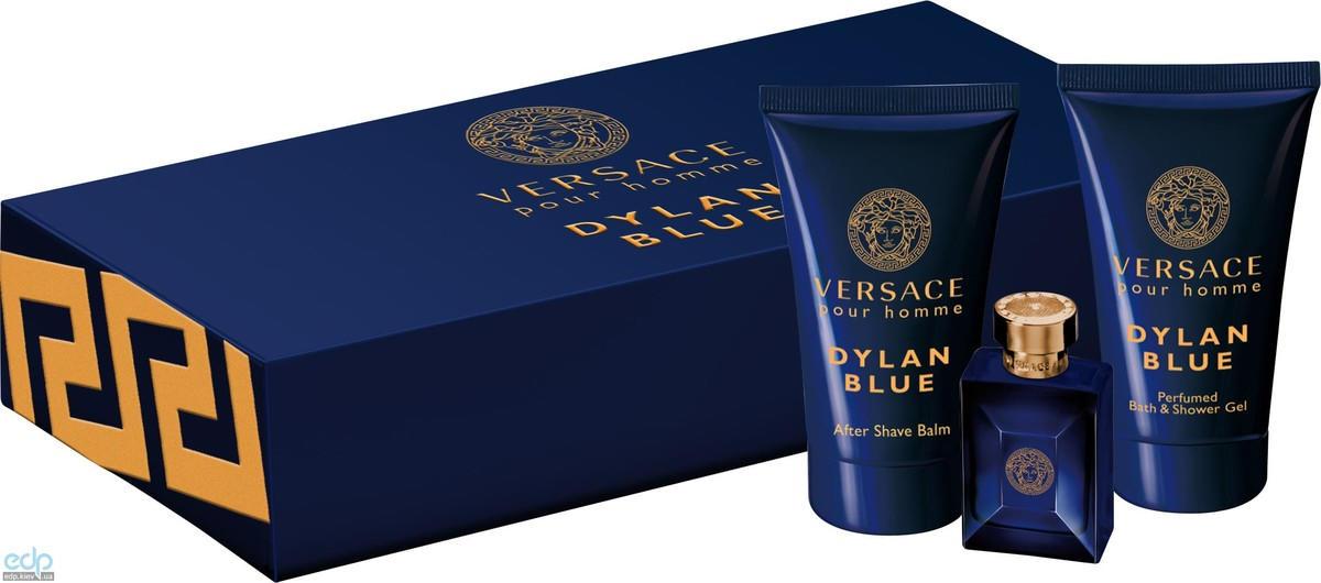 Versace Pour Homme Dylan Blue - Набор (туалетная вода 5ml + бальзам после бритья 25ml + гель для душа 25ml)