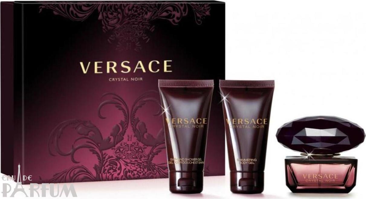 Versace Crystal Noir -  Набор (туалетная вода 50 + лосьон-молочко для тела 50 + гель для душа 50)