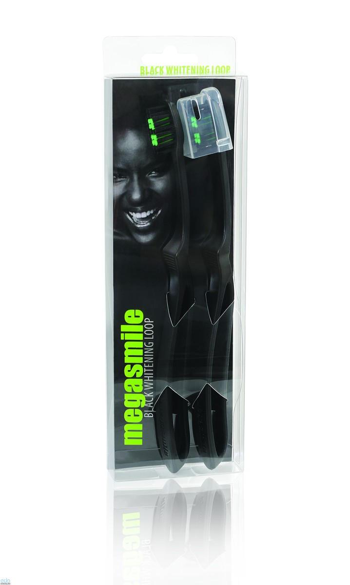 Megasmile - Зубная щетка LOOP Блек Вайтенинг - LOOP Black Whiteninng Toothbrush - 2 шт