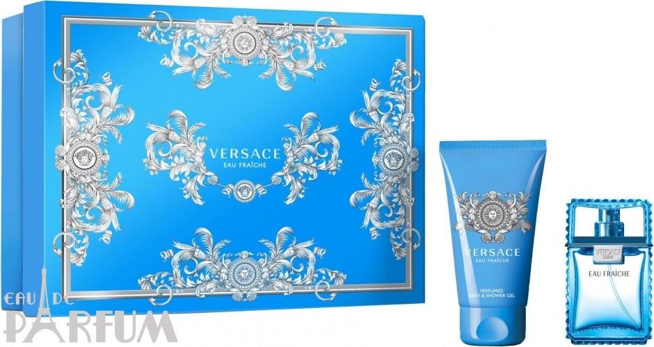 Versace Man Eau Fraiche - Набор (туалетная вода 100 + гель для душа 150) 4483496432774