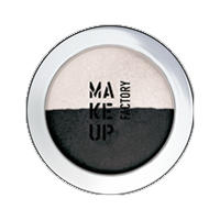 Make up Factory Тени для век Make Up Factory -  Duo Eye Shadow №08 Noir/Icy Rose
