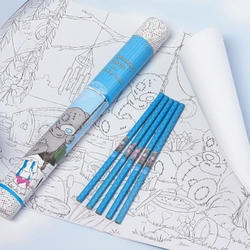 Набор для раскраски MTY (Me To You) (3 раскраски формата А3 + разноцветные карандаши 5шт) (арт. G01S0261)