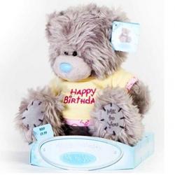 Игрушка плюшевый мишка MTY (Me To You) -  в футболке Happy Birthday 15 см (арт. 01W0256)