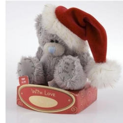 Игрушка плюшевая MTY (Me To You) -  медвежонок Дед Мороз 7.5 см (арт. G01W0298)