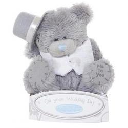 Игрушка плюшевый мишка MTY (Me To You) -  - On your Wedding Day 7.5 см (жених) (арт. G01W0741)