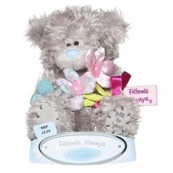 Игрушка плюшевый мишка MTY (Me To You) -  с букетом цветов Friends Always 15 см (арт. G01W0777)