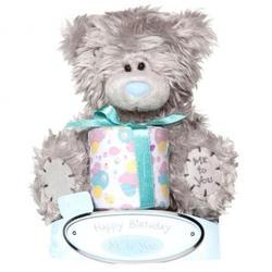 Игрушка плюшевый мишка MTY (Me To You) -  с подарком Happy Birthday 15 см (арт. G01W1028)