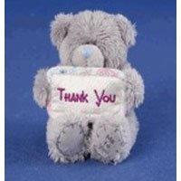 Игрушка плюшевая MTY (Me To You) -  медвежонок с плакатом Thank You 7.5 см (арт. G01W1062)
