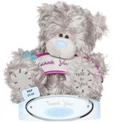 Игрушка плюшевый мишка MTY (Me To You) -  с плакатом Thank You 15 см (арт. G01W1068)