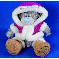 Игрушка плюшевый мишка MTY (Me To You) -  в розовой шубке Someone Special 25 см (арт. G01W1239)