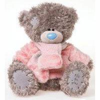 Игрушка плюшевый мишка MTY (Me To You) -  мишка в розовом свитере с шарфиком 30 см (арт. G01W1993)