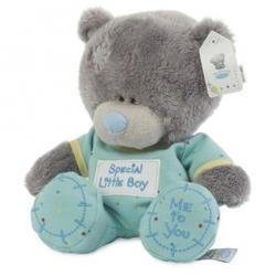Игрушка плюшевый мишка MTY (Me To You) -  Tiny Tatty Teddy в голубых ползунках 20 см (арт. G92W0014)