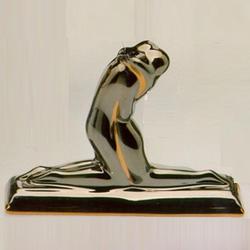 Статуэтки Galos (Испания) - Эмбрасе - 11 x 15 см. (фарфор, покрытие платиной, золотом)