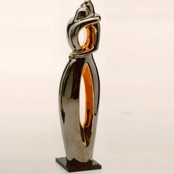 Статуэтки Galos (Испания) - Эмбрасе - 43 x 11 см. (фарфор, покрытие платиной, золотом)