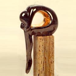 Статуэтки Galos (Испания) - Релакс - 25 x 9 см. (фарфор, покрытие платиной, золотом)