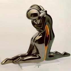 Статуэтки Galos (Испания) - Эмбрасе - 32 x 40 см. (фарфор, покрытие платиной, золотом)