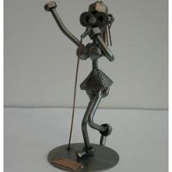 Статуэтки Hinz and Kunst (Германия) - Певица - 18 x 10 см. (металл)