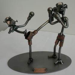 Статуэтки Hinz and Kunst (Германия) - Кик-боксинг - 17 x 19 см. (металл)