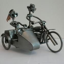 Статуэтки Hinz and Kunst (Германия) - Мотоцикл Harley с коляской - 18 x 23 см. (металл)