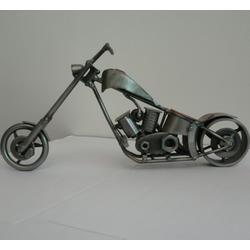 Статуэтки Hinz and Kunst (Германия) - Мотоцикл Harley - 15 x 30 см. (металл)
