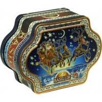 Basilur - Чай черный Очаровательная коллекция Санки - жестяная банка - 100g (4792252923911)