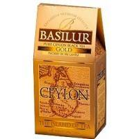 Basilur - Чай черный Остров Цейлон Золотой - картонная коробка - 100g (4792252001152)
