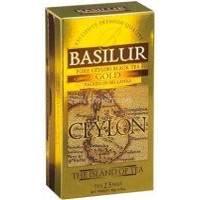 Basilur - Чай черный Остров Цейлон Золотой - в пакетиках - 25шт. x 2g (4792252917224)