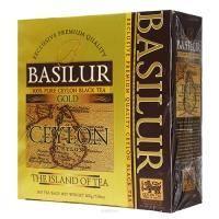 Basilur - Чай черный Золотой Коллекция Остров Цейлон - картонная коробка - 100х2g (71009-00)