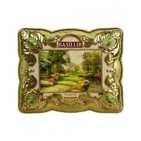 Basilur - Чай зеленый Шкатулка Оникс - жестяная банка - 100g (4792252925557)