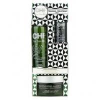 CHI - Набор для волос с маслами чайного дерева Tea Tree Oil Tranquil Treatment Trio (лосьон для волос - 177 ml + сыворотка для волос - 29 ml +  восстанавливающая маска - 236 ml) PM8126