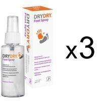 Dry Dry (Драй Драй) Foot Spray - Дезодорант-спрей для ног от обильного потовыделения - 100 ml (1+1+1)