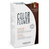 Euphytos - Краска для волос ColorFlower №6/5 Dark Blonde Mahogany - 120 ml
