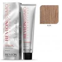 Краска для волос Revlon Professional Revlonissimo Colorsmetique №8.24 Coppery Pearl Blonde  /Светлый блондин переливающийся медный   - 60 ml