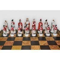 Nigri Scacchi - Шахматные фигуры Battaglia di Waterloo (medium size) - Битва при Ватерлоо - Фигуры 8-10 см (SP23.55)