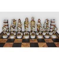 Nigri Scacchi - Шахматные фигуры Battaglia Romani Barbari (big size) - Бой римлян с варварами - Фигуры 9,5-13 см (SP14.15)