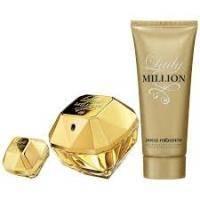 Paco Rabanne Lady Million -  Набор (парфюмированная вода 80 + лосьон-молочко для тела 100 + парфюмированная вода 15)